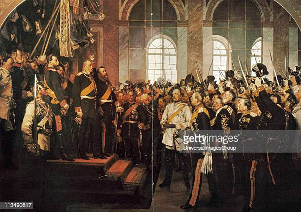 Wilhelm I King of Prussia from 1861 being proclaimed first Emperor of Germany 1871 After the defeat of France in the FrancoPrussian War of 18701871...