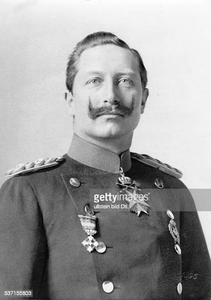 Wilhelm II Deutscher Kaiser 18881918 König von Preussen Porträt 1896 Aufnahme Julius Cornelius Schaarwaechter
