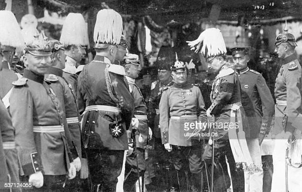Wilhelm II Deutscher Kaiser 18881918 König von Preussen Wilhelm II mit seinen Generalen
