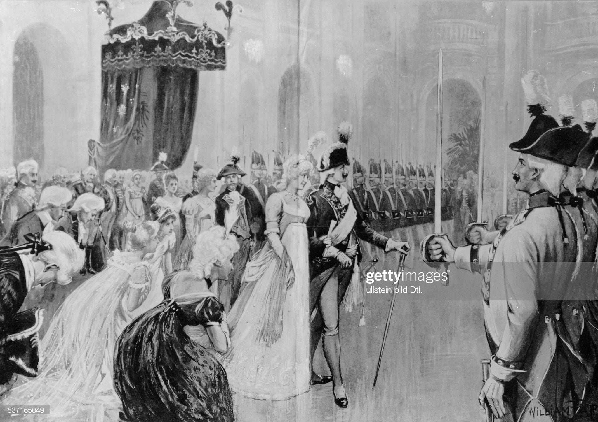 Wilhelm II. - Deutscher Kaiser 1888-1918, mit Auguste Viktoria a.e. Kostuemfest : Nachrichtenfoto