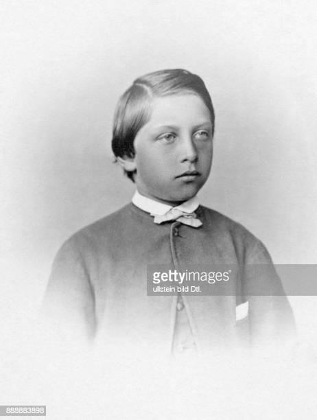 Wilhelm II Deutscher Kaiser Koenig von Preussen Letzter Deutscher Kaiser 18881918 Portrait im Alter von ca 15 Jahren Originalaufnahme im Archiv von...