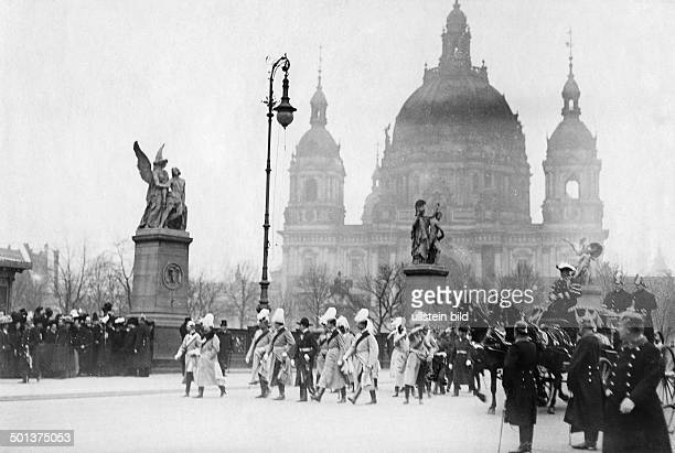 Wilhelm II - German Emperor, King of Prussia Berlin, parade on the occasion of the 50th birthday of the German Emperor - - Photographer: Haeckel