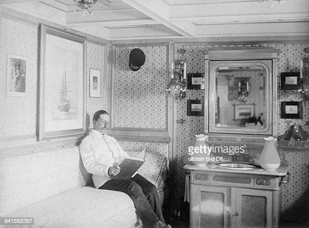 Wilhelm II German Emperor King of Prussia*27011859 on board of the yacht SMY 'Hohenzollern' during his Nordland journey 1903Vintage property of...