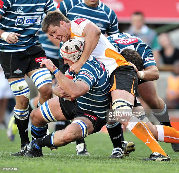 Wilhelm Steenkamp of the Toyota Free State Cheetahs during the Absa Currie Cup match between Toyota Free State Cheetahs and GWK Griquas at Free State...