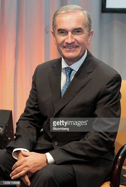 Wilhelm von Haller chief executive officer of Sal Oppenheim Group sits for a photo during the Banks in Crisis conference in Frankfurt Germany on...