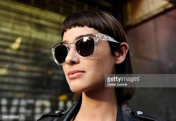 Wilhelmina Model Margaux Brooke is seen around Soho wearing Wonderland sunglasses on May 31 2014 in New York City
