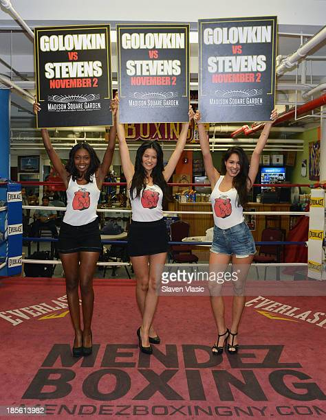 Wilhelmina models Alexis Lilly Tarale Wulff and Vanessa Ratnavich win the Ring Card Girl Search for the Gennady Golovkin vs Curtis Stevens Boxing...