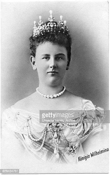 Wilhelmina Queen of the Kingdom of the Netherlands postcard circa 1900
