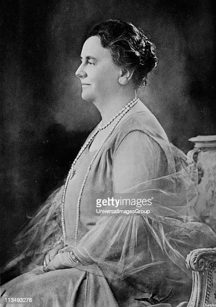 Wilhelmina Queen regnant of the Kingdom of the Netherlands from 1890-1948. Three-quarter length profile photographic portrait of Queen Wilhelmina...