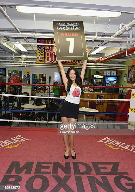 Wilhelmina's model Tarale Wulff wins the Ring Card Girl Search for the Gennady Golovkin vs Curtis Stevens Boxing Match taking place November 2 2103...