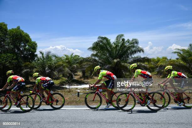 Wilier TriestinaSelle Italia riders compete during Stage 3 of the Le Tour de Langkawi 2018 Kota BharuKuala Terengganu 166 km on March 20 2018 in...