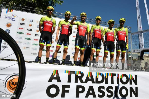 Wilier TriestinaSelle Italia riders pose during Stage 2 of the Le Tour de Langkawi 2018 GerikKota Bharu 2083 km on March 19 2018 in Langkawi Malaysia