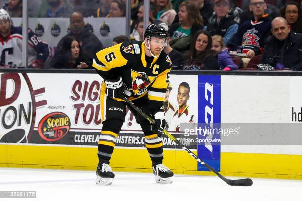 Wilkes-Barre/Scranton Penguins defenceman David Warsofsky on the ice during the first period of the American Hockey League game between the...