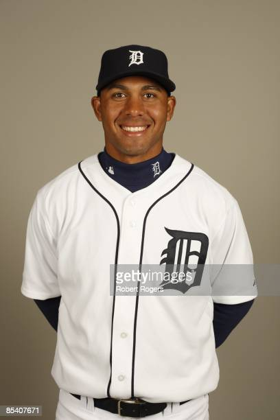Wilkin Ramirez of the Detroit Tigers poses during Photo Day on Saturday February 21 2009 at Joker Marchant Stadium in Lakeland Florida