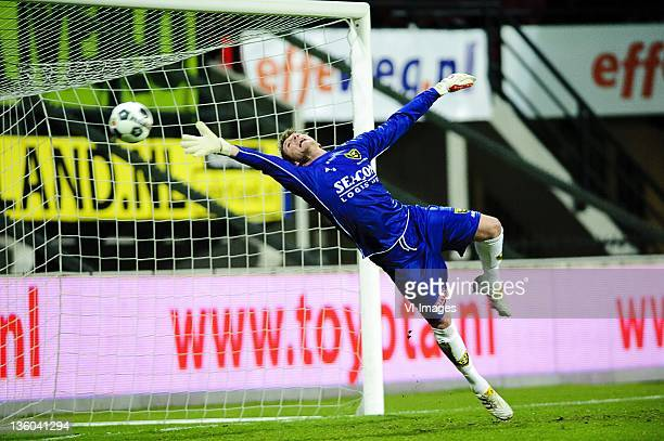 Wilko de Vogt of VVV-Venlo during the Dutch Eredivisie match between NEC Nijmegen and VVV Venlo at the Goffert stadium on December 17, 2011 in...