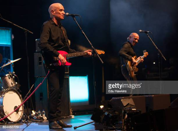 Wilko Johnson and Norman WattRoy perform live on stage at Royal Albert Hall on September 26 2017 in London England