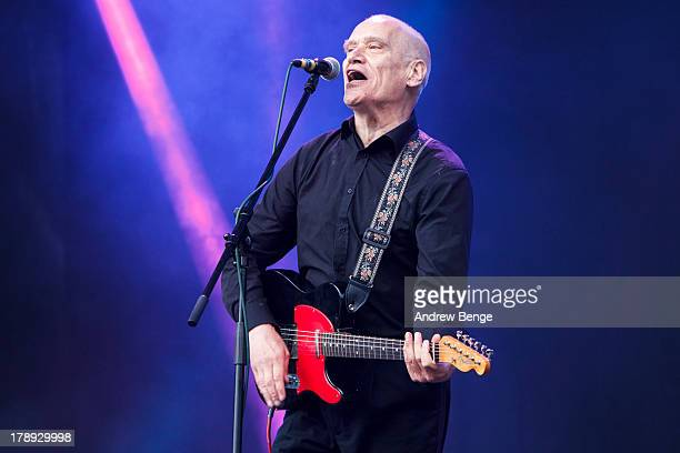Wilko Johnson performs on stage on Day 2 of Bingley Music Live 2013 at Myrtle Park on August 31 2013 in Bingley England