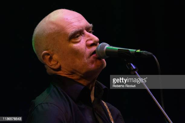 Wilko Johnson performs onstage at Queens Hall on April 12, 2019 in Edinburgh, Scotland.