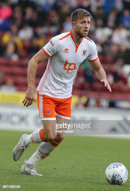 Will Aimson of Blackpool in action during the Sky Bet League One match between Northampton Town and Blackpool at Sixfields on October 28 2017 in...