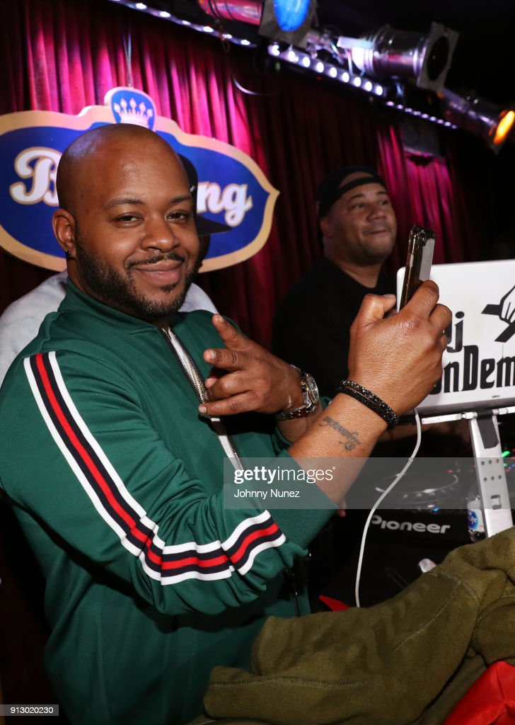 DJ Will (L) and DJ Don Demarco spin at B.B. King Blues Club & Grill on January 31, 2018 in New York City.