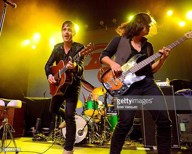 Will Anderson and Alex Hargrave of Parachute perform at The Fonda Theatre on May 17 2013 in Los Angeles California