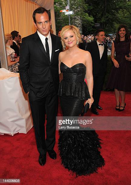 Will Arnett and Amy Poehler attend the Schiaparelli And Prada Impossible Conversations Costume Institute Gala at the Metropolitan Museum of Art on...