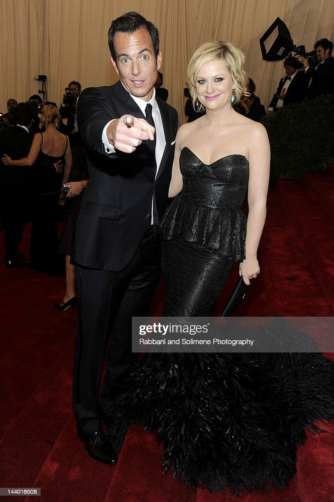 Will Arnett and Amy Poehler attends the 'Schiaparelli And Prada: Impossible Conversations' Costume Institute Gala at the Metropolitan Museum of Art on May 7, 2012 in New York City.