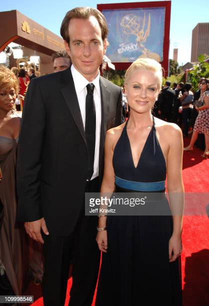 Will Arnett and Amy Poehler during 58th Annual Primetime Emmy Awards Red Carpet at The Shrine Auditorium in Los Angeles California United States