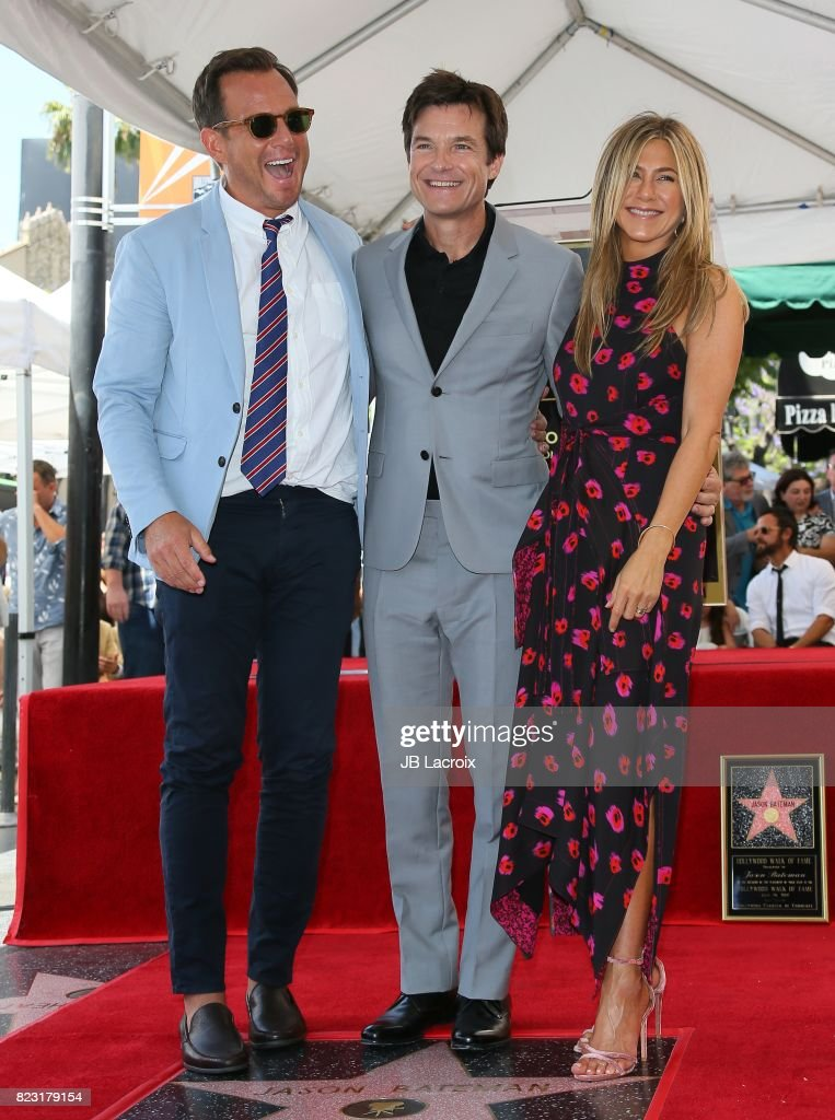 Will Arnett and Jennifer Aniston attend the ceremony honoring Jason Bateman with Star On The Hollywood Walk Of Fame on July 25, 2017 in Hollywood, California.