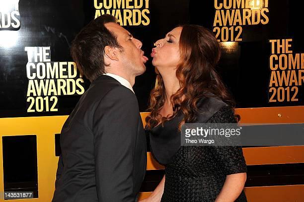 Will Arnett and Maya Rudolph attend The Comedy Awards 2012 at Hammerstein Ballroom on April 28, 2012 in New York City.