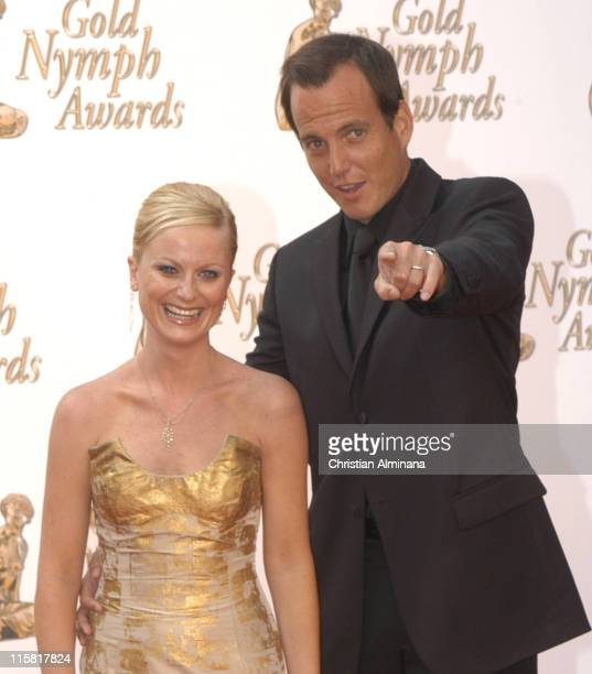 Will Arnett and wife Amy Poehler during 45th Monte Carlo Television Festival Closing Award Ceremony at Grimaldi Forum in Monte Carlo Monaco