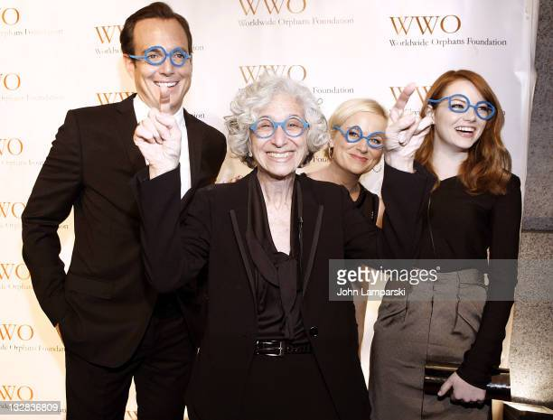 Will Arnett , Jane Aronson, Amy Poehler and Emma Stone attends the 7th Annual Worldwide Orphans Foundation's Benefit Gala at Cipriani, Wall Street on...