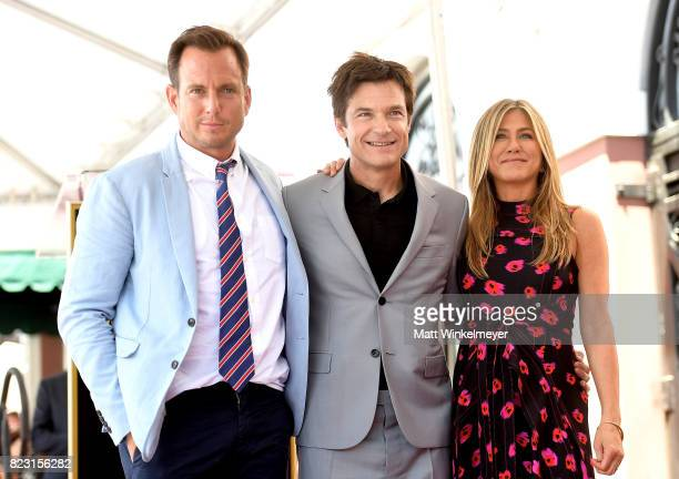 Will Arnett Jason Bateman and Jennifer Aniston attend The Hollywood Walk of Fame Star Ceremony honoring Jason Bateman on July 26 2017 in Hollywood...