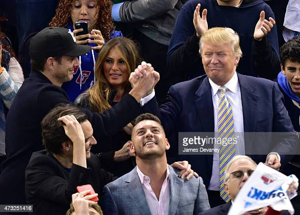 Will Arnett Melania Trump and Donald Trump attend the Washington Capitals vs New York Rangers game at Madison Square Garden on May 13 2015 in New...