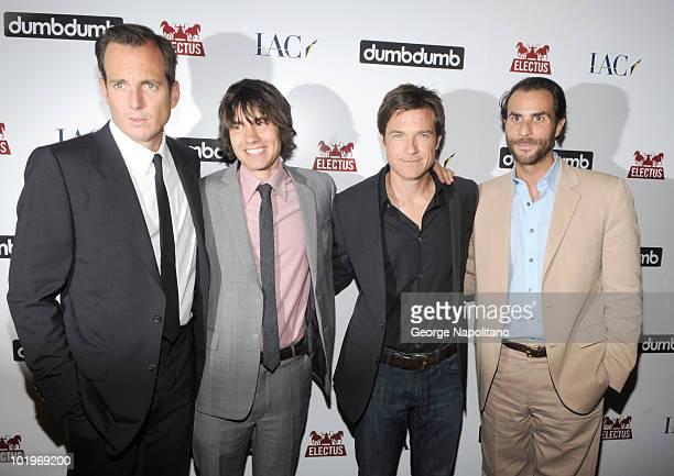 Will Arnett Ricky Van Veen Jason Bateman and Ben Silverman attend the launch of DumbDumb at IAC Building on June 10 2010 in New York City