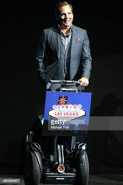 Will Arnett speaks onstage at the Paramount Studios presentation Cinemacon 2014 Day 1 opening night held at The Colosseum at Caesars Palace on March...