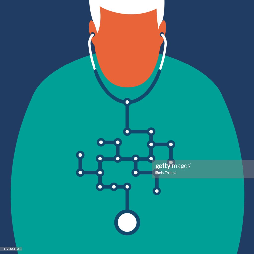 Will artificial intelligence replace doctors? : Stock Photo