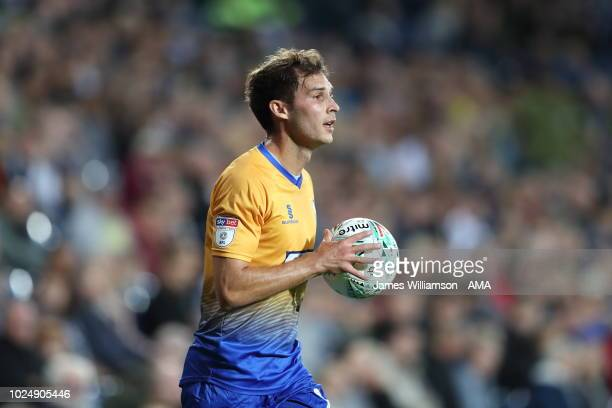 Will Atkinson of Mansfield Town during the Carabao Cup Second Round match between West Bromwich Albion and Mansfield Town at The Hawthorns on August...