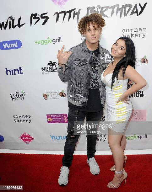 Will B and Dani Cohn attend Singer Will B's 17th Birthday Party held at Starwest Studios on August 17 2019 in Burbank California