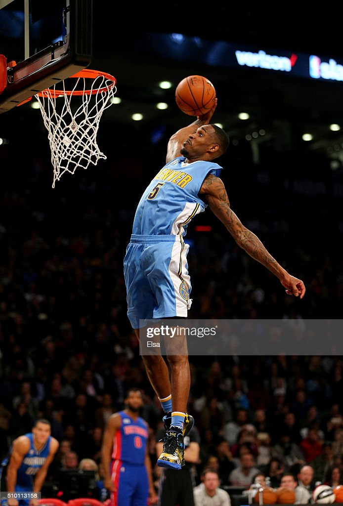 Will Barton of the Denver Nuggets dunks in the Verizon Slam Dunk Contest during NBA All-Star Weekend 2016 at Air Canada Centre on February 13, 2016 in Toronto, Canada.