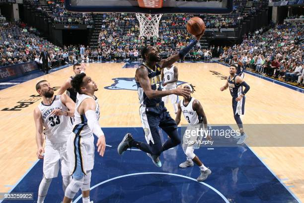 Will Barton of the Denver Nuggets goes to the basket against the Memphis Grizzlies on March 17 2018 at FedExForum in Memphis Tennessee NOTE TO USER...