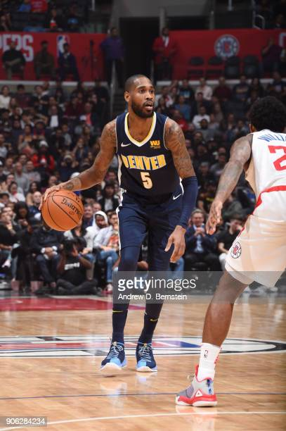 Will Barton of the Denver Nuggets handles the ball against the LA Clippers on January 17 2018 at STAPLES Center in Los Angeles California NOTE TO...