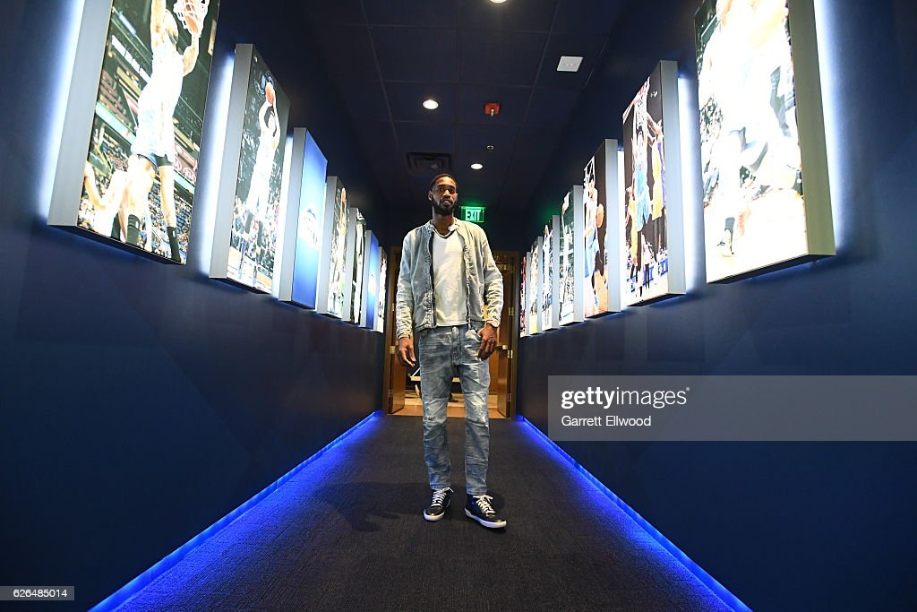 Will Barton #5 of the Denver Nuggets heads to the locker room before a game against the Portland Trail Blazers on October 29, 2016 at the Pepsi Center in Denver, Colorado.