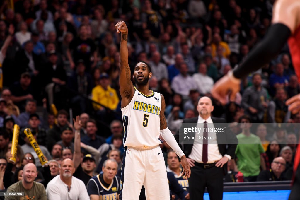 DENVER NUGGETS VS PORTLAND TRAILBLAZERS, NBA : News Photo