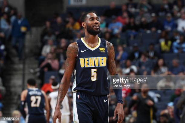 Will Barton of the Denver Nuggets looks on during the game against the Memphis Grizzlies on March 2 2018 at FedExForum in Memphis Tennessee NOTE TO...