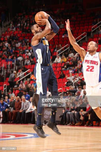 Will Barton of the Denver Nuggets shoots the ball against the Detroit Pistons on December 12 2017 at Little Caesars Arena in Detroit Michigan NOTE TO...