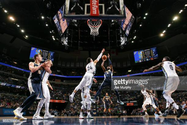 Will Barton of the Denver Nuggets shoots the ball against the Memphis Grizzlies on March 17 2018 at FedExForum in Memphis Tennessee NOTE TO USER User...