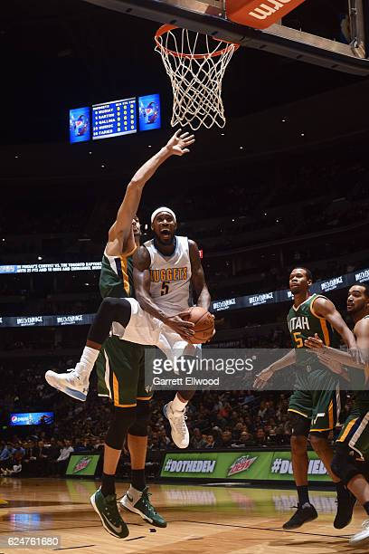 Will Barton of the Denver Nuggets shoots the ball against the Utah Jazz on November 20 2016 at the Pepsi Center in Denver Colorado NOTE TO USER User...