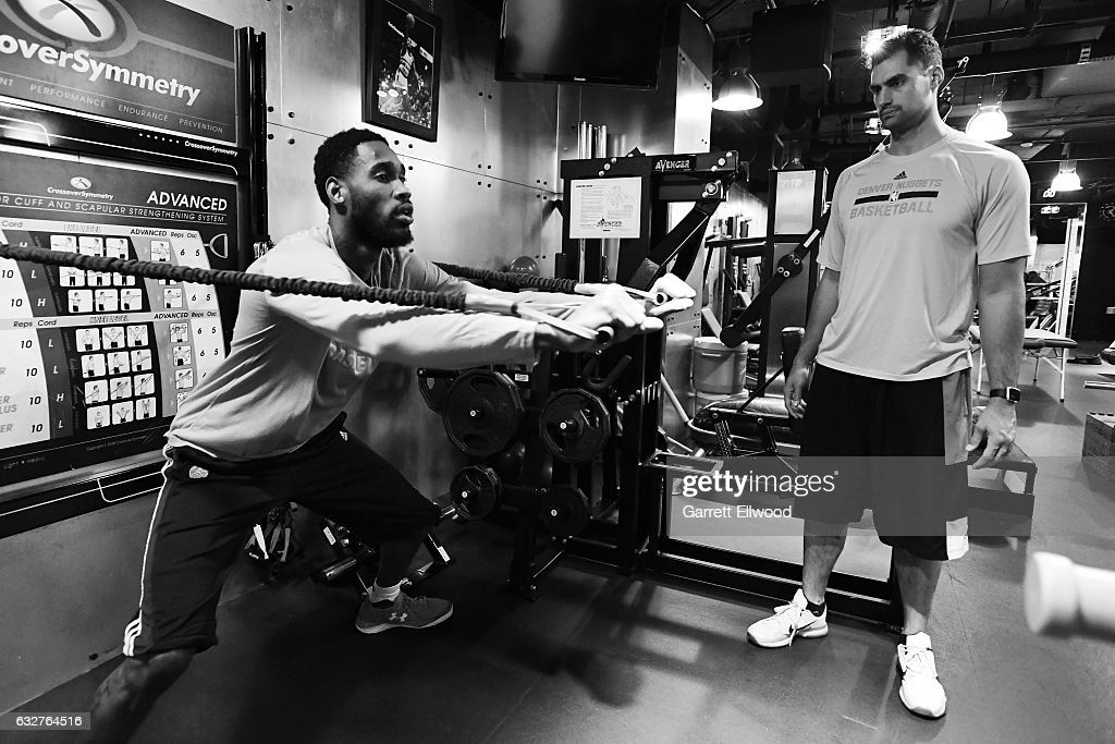 Will Barton #5 of the Denver Nuggets works out before the game against the Utah Jazz on January 24, 2017 at the Pepsi Center in Denver, Colorado.