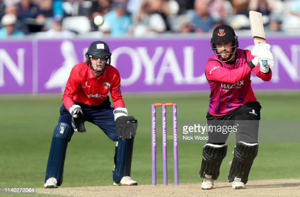 Will Beer of Sussex in batting action during the Royal London One Day Cup match between Essex Eagles and Sussex Sharks at Cloudfm County Ground on...